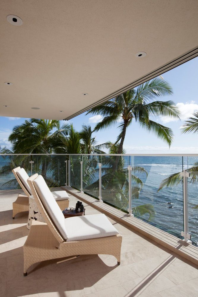 Waterfront Grace Balcony Luxury Residential by Philpotts Interiors