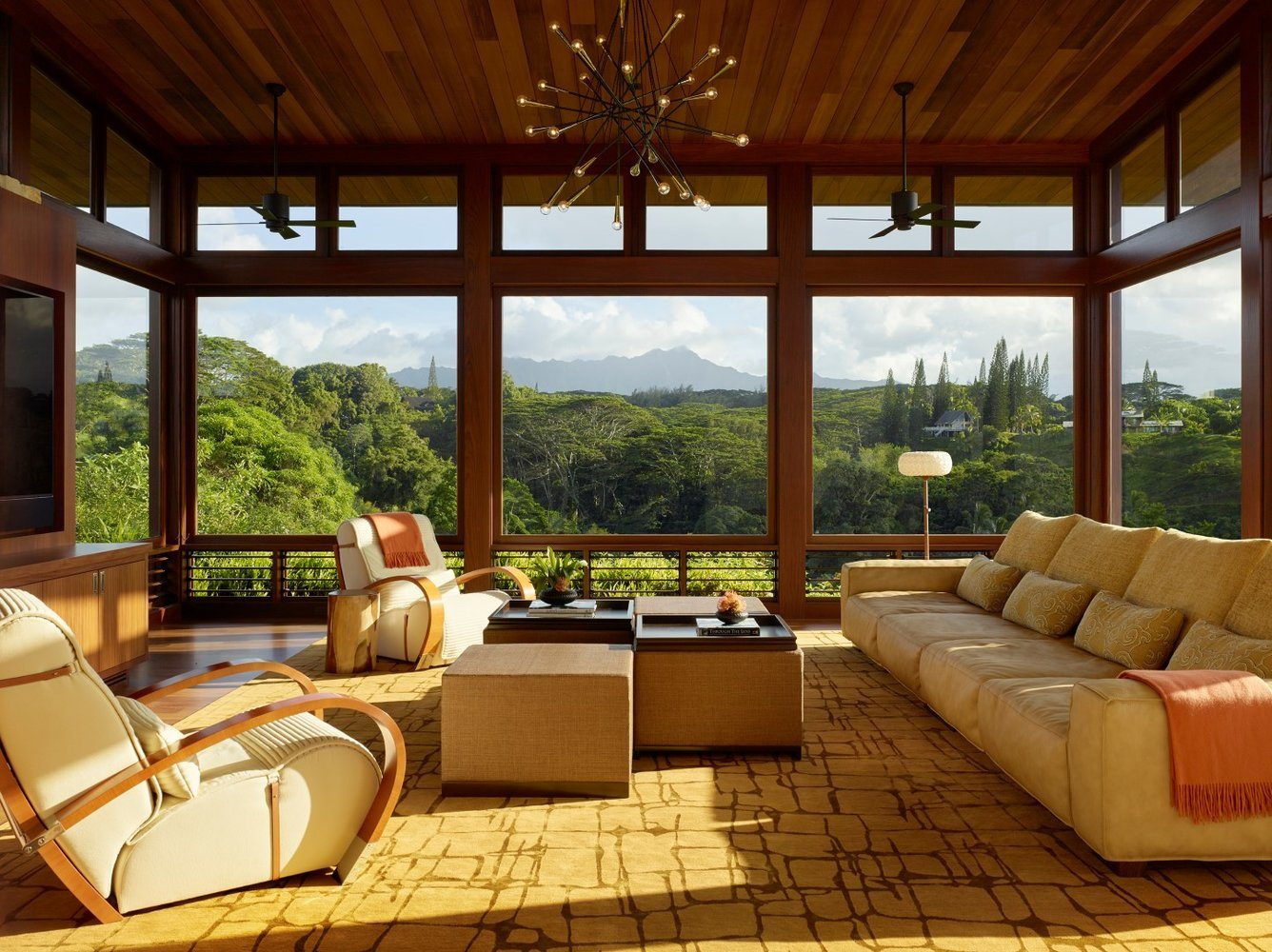 Kalihiwai Ranch Screening Room - Luxury Residential by Philpotts Interiors