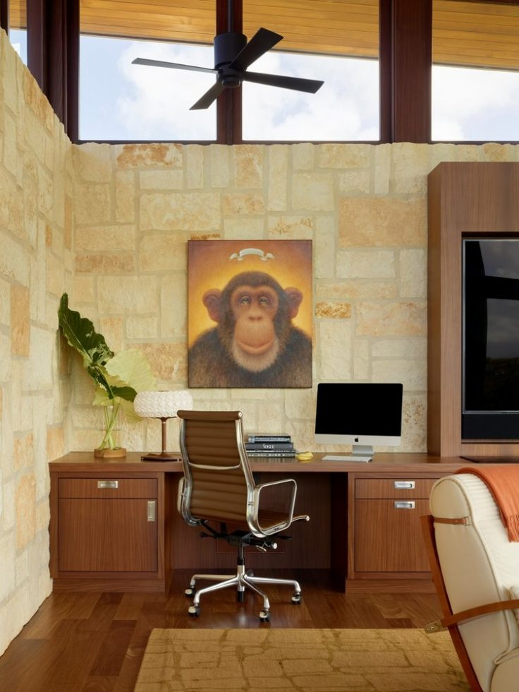 Kalihiwai Ranch Office - Luxury Residential by Philpotts Interiors