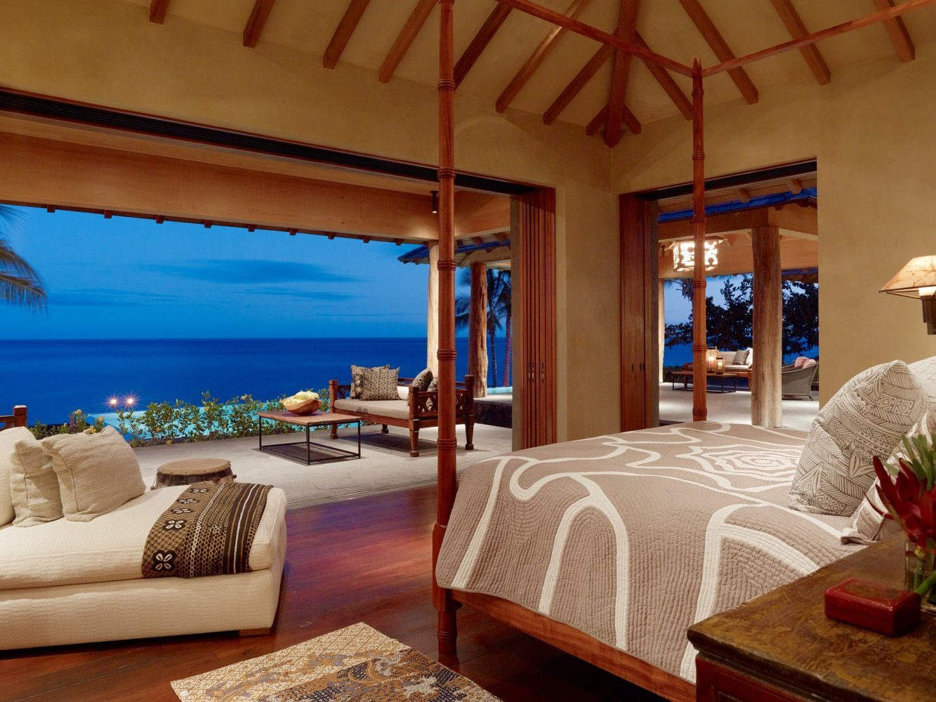 View From the Terraces Master Bedroom - Luxury Residential by Philpotts Interiors