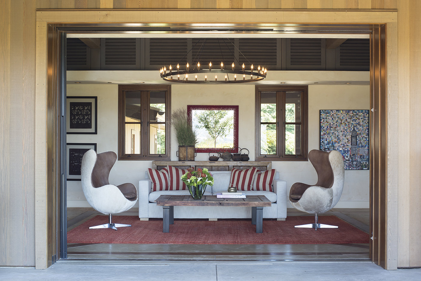 California Dreaming Living Room Luxury Residential by Philpotts Interiors