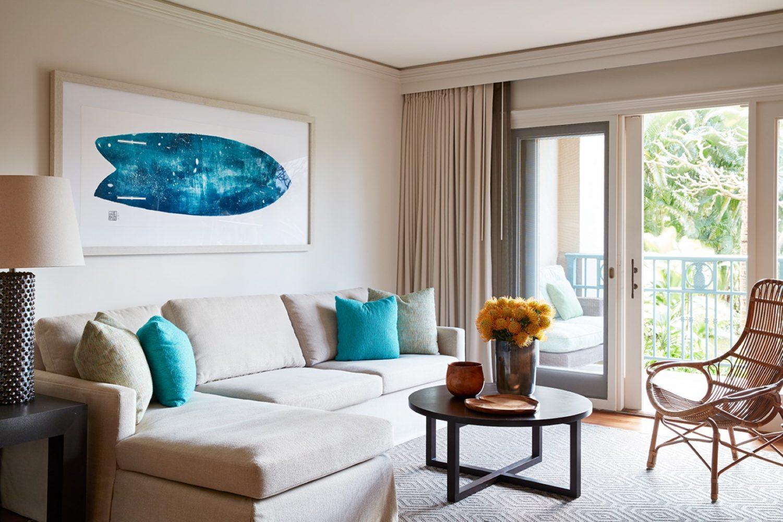 Ritz Carlton Kapalua Residence Living Room by Philpotts Interiors