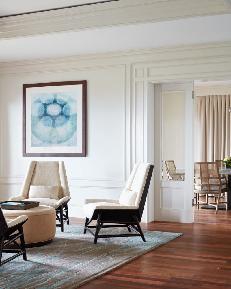Ritz Carlton Kapalua Presidential Suite Living Room Detail by Philpotts Interiors