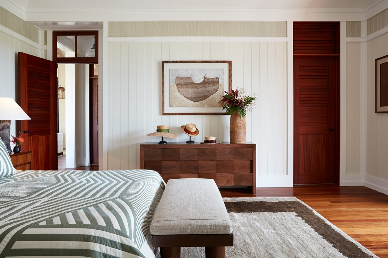 Garden Isle Residence Master Bedroom - Philpotts Interiors