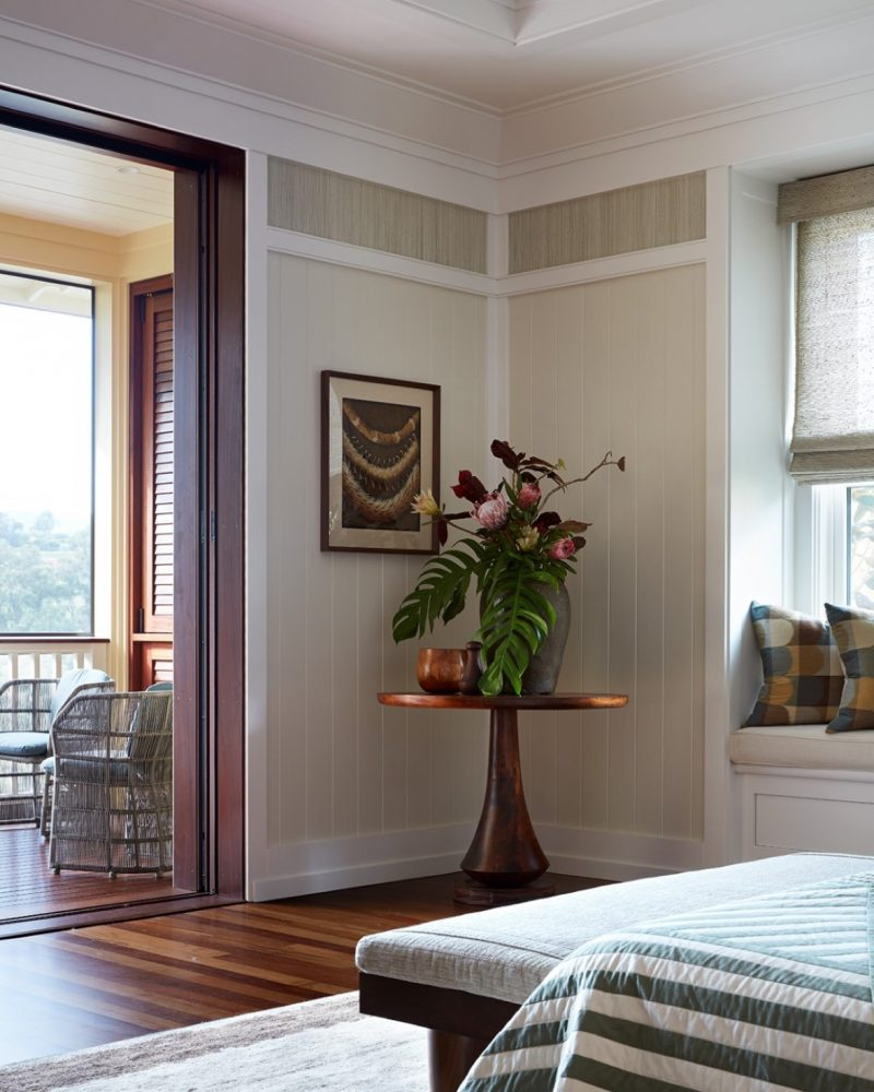 Garden Isle Residence Master Bedroom Corner Table - Philpotts Interiors