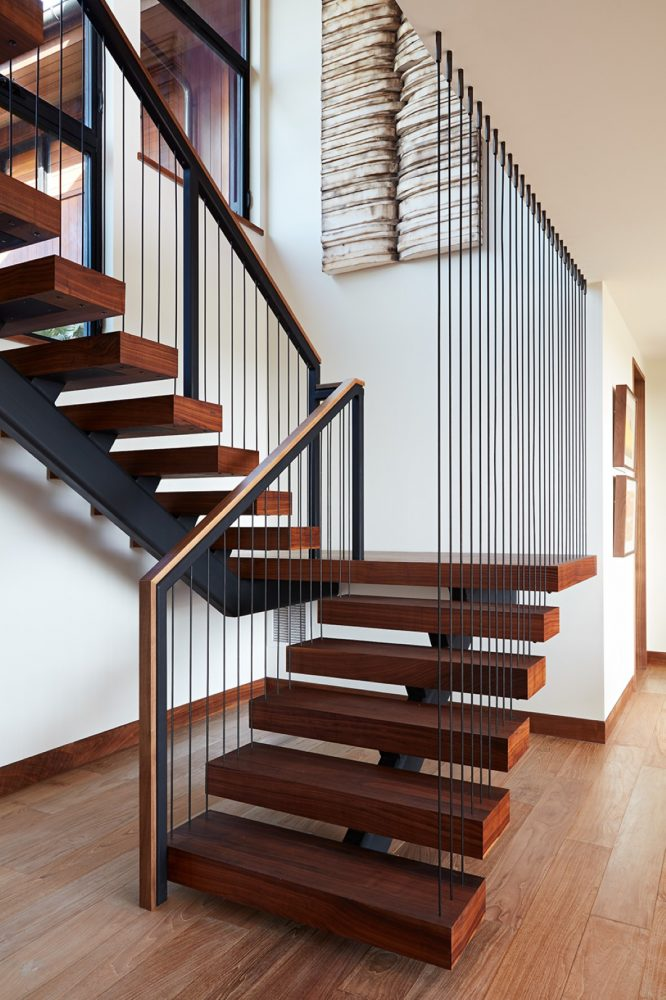 Hale Ike Mala Residence Stairwell by Philpotts Interiors