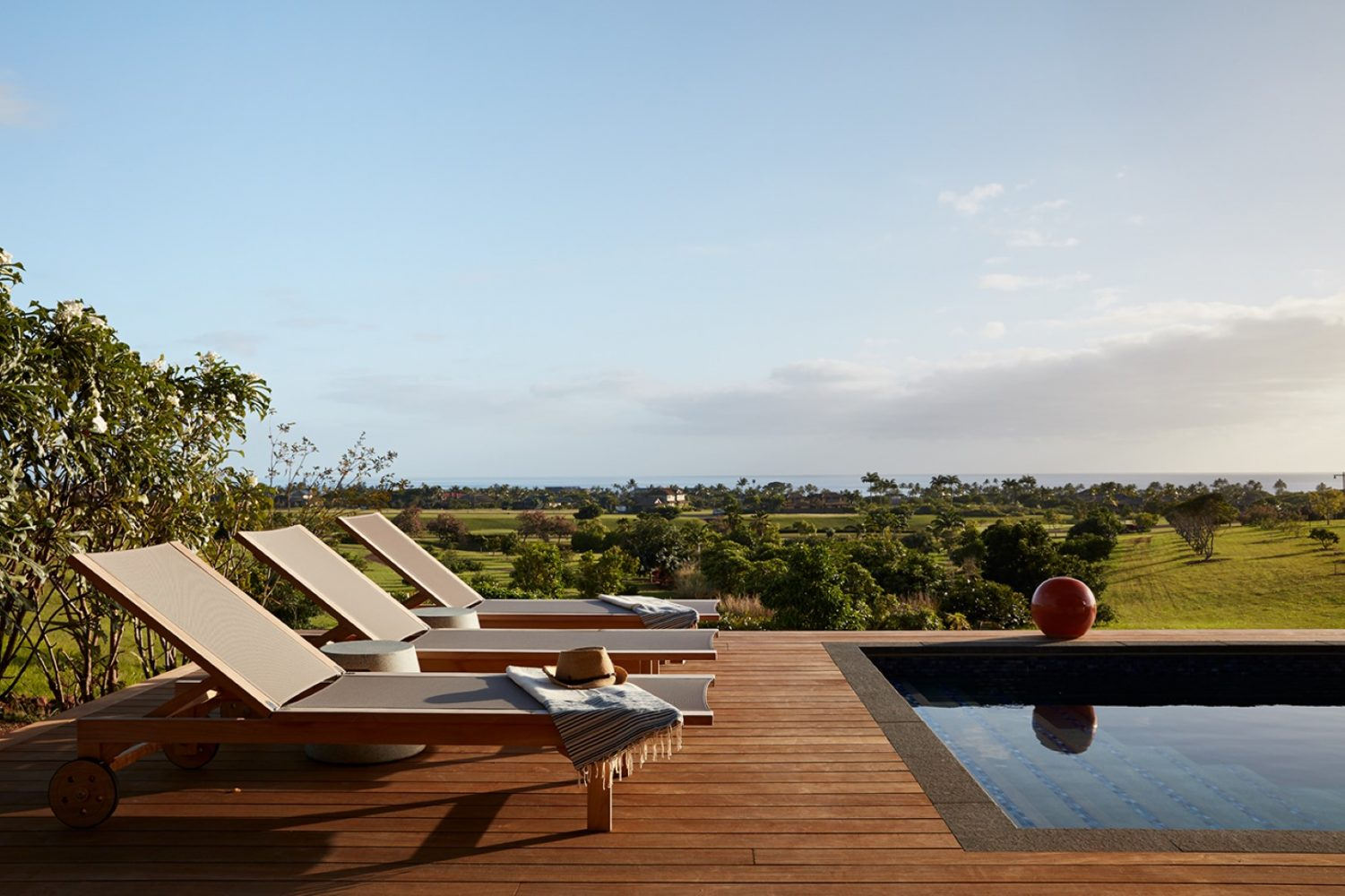 Hale Ike Mala Residence Pool Deck Seating by Philpotts Interiors