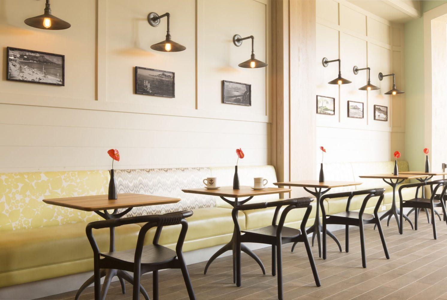 Queen Kapiolani Hotel Banquette - Philpotts Interiors