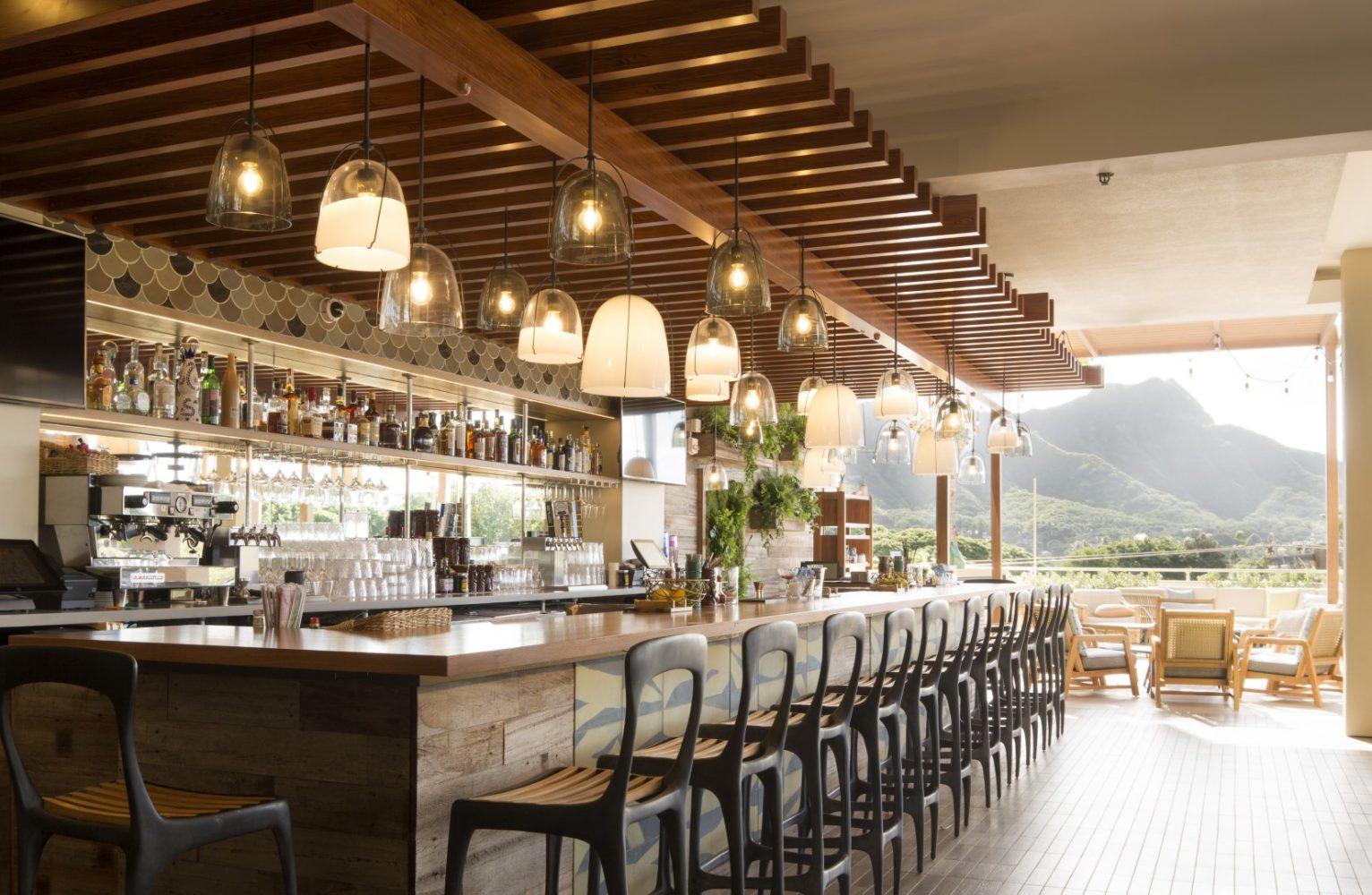 Queen Kapiolani Hotel Deck Restaurant- Philpotts Interiors